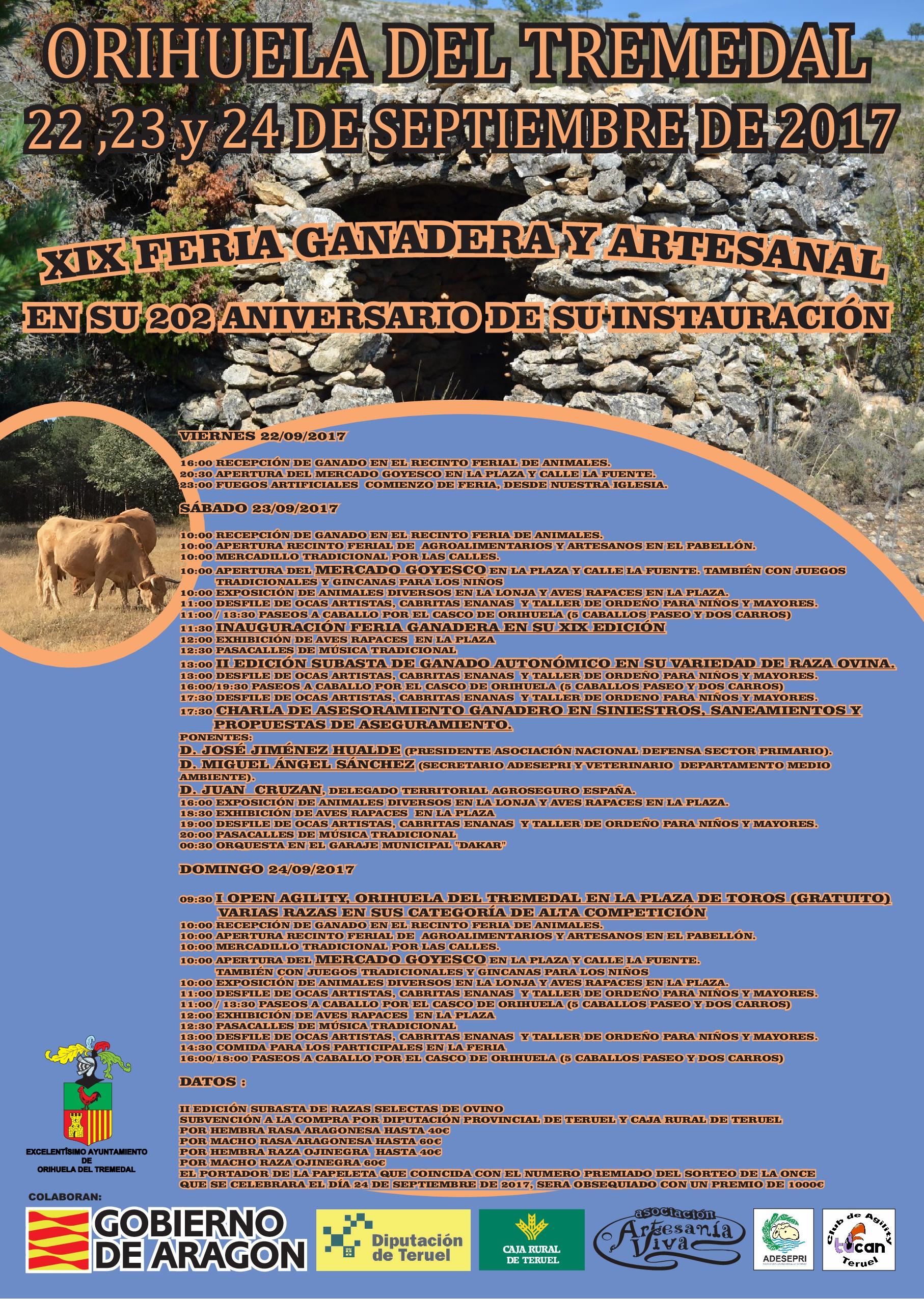 XIX Feria Ganadera y Artesanal de Orihuela del Tremedal.