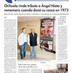 Orihuela rinde tributo a Ángel Nieto y rememora cuando donó su casco en 1972